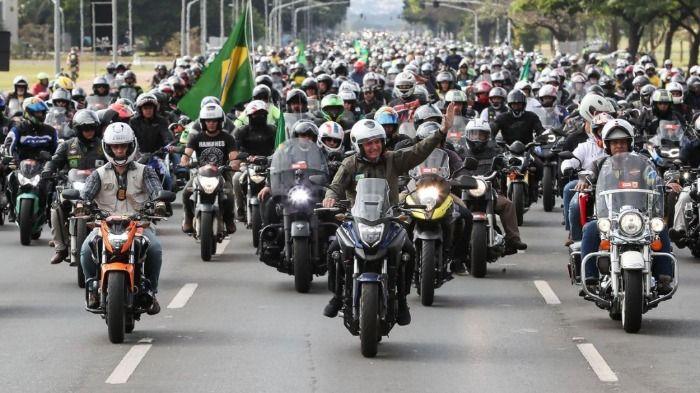 Motociclistas de Vilhena se deslocam para Brasília em apoio a Bolsonaro