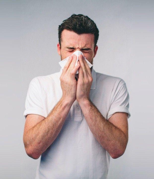 Runny nose main symptom of rho variant