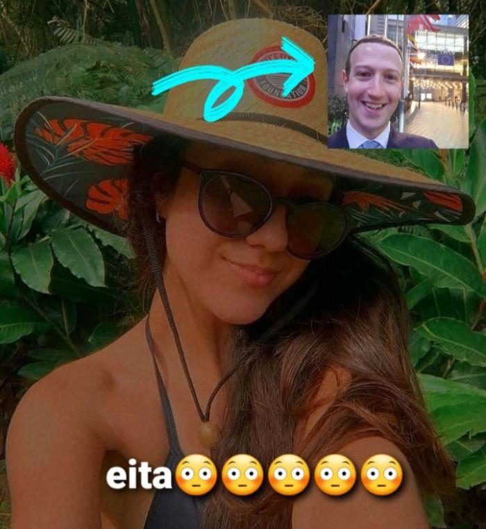 Motivo da caída do Zap: Giovana Castro não deu uns beijinhos no Zuckerberg e ele ficou bravo
